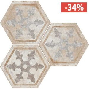Pavimento Gres porcellanato Fioranese Ceramica decoro Exagona Texture1.