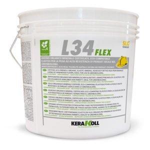 Kerakoll L34 Flex Chiara 16 Kg Colla elastica per la posa di parquet
