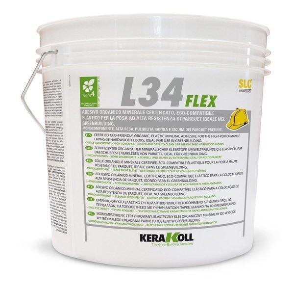Kerakoll L34 Flex Scura 16 Kg Colla elastica per la posa di parquet