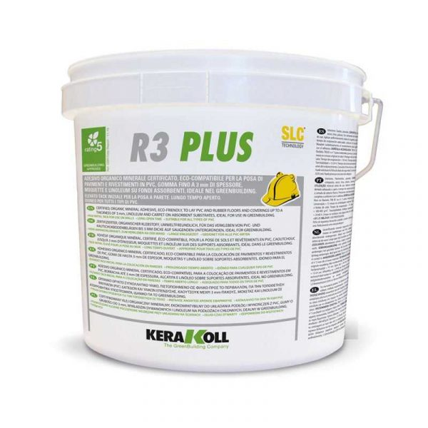 Kerakoll R3 Plus 5 Kg Colla per pavimenti e rivestimenti PVC LVT Gomma