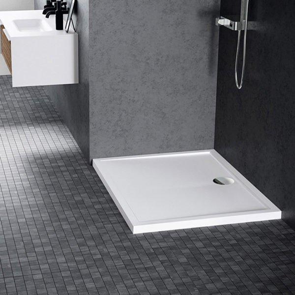 Piatto doccia Olympic Novellini bianco lucido 100×80