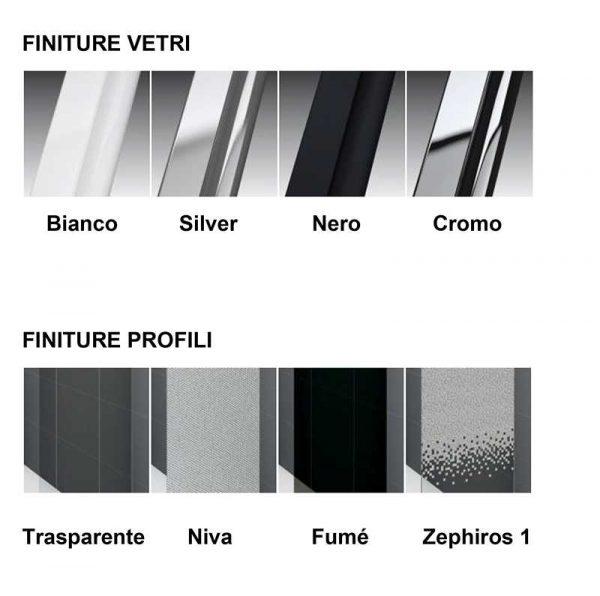 Box Doccia angolare Novellini Zephyros A 100×80 2 ante scorrevoli e 2 fisse Foto 3