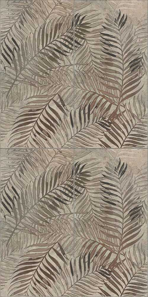 Dado-Ceramica-Wallpapers-Bronze-Fern-60×120-posa