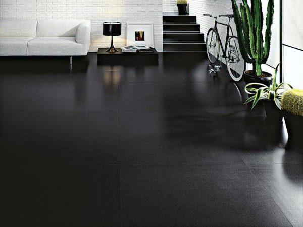 Cotto d'Este Kerlite Black-White Black silk