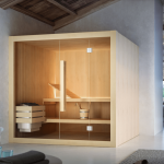 Sauna finlandese Glass Nuvola