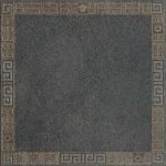 Versace Ceramics #Greek 40×40 Cassettone Antracite oro
