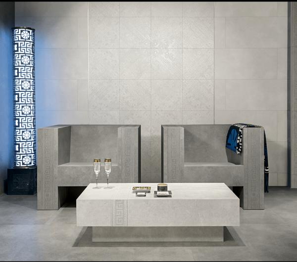 Versace Ceramics #Greek 80×80 Bianco interno_1