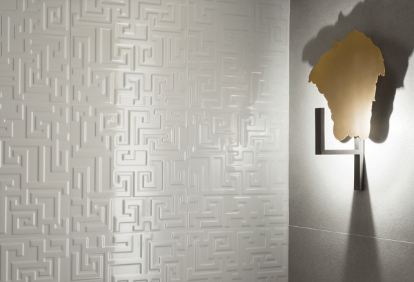 Versace Ceramics #Greek Rivestimento 3D 40×40 Avorio interno