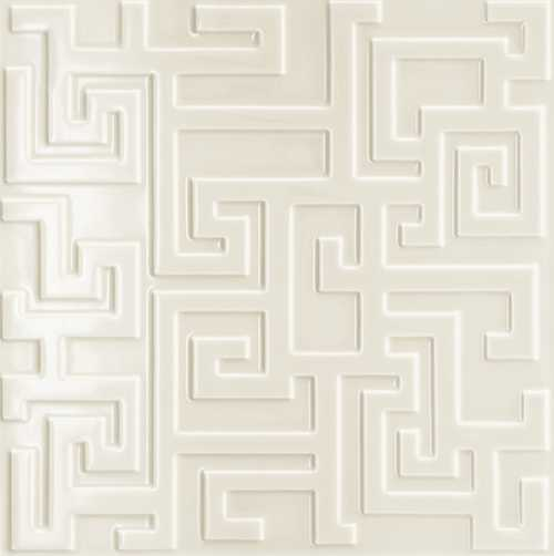 Versace Ceramics #Greek Rivestimento 3D 40×40 Avorio