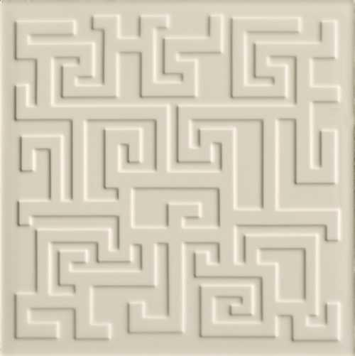 Versace Ceramics #Greek Rivestimento 3D 40×40 Crema