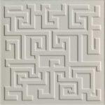 Versace Ceramics #Greek Rivestimento 3D 40×40 Grigio