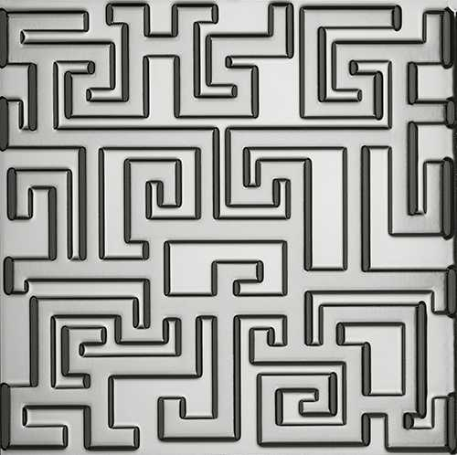 Versace Ceramics #Greek Rivestimento 3D 40×40 Platino