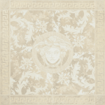 Versace ceramics 117,2×117,2 Rosone levigato bianco