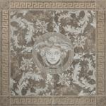Versace ceramics 117,2×117,2 Rosone levigato grigio