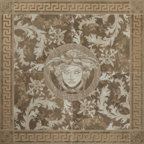 Versace ceramics 117,2×117,2 Rosone levigato marrone