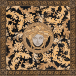 Versace ceramics 117,2×117,2 Rosone levigato nero s.laurent