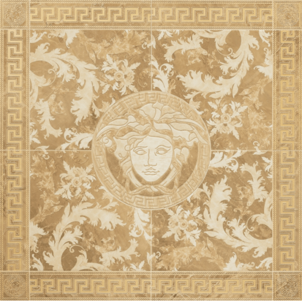 Versace ceramics 117,2×117,2 Rosone levigato oro