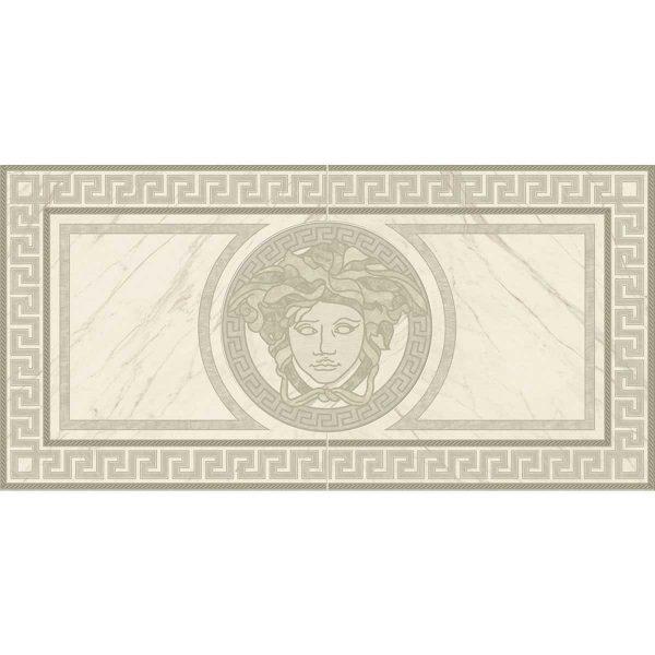Versace ceramics 58,5×117,2 Rosone levigato bianco