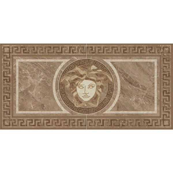Versace ceramics 58,5×117,2 Rosone levigato marrone