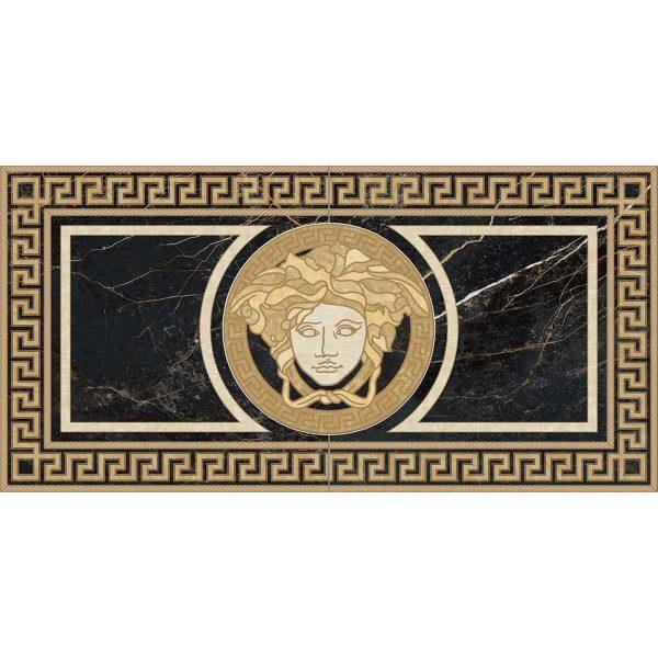Versace ceramics 58,5×117,2 Rosone levigato nero s.laurent