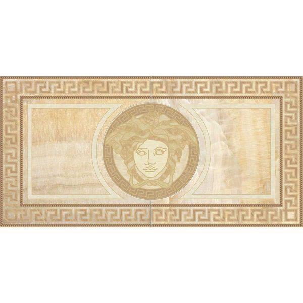 Versace ceramics 58,5×117,2 Rosone levigato oro