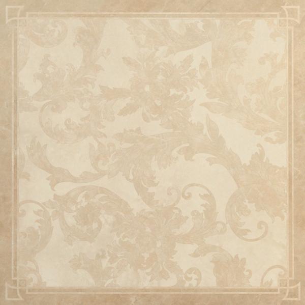 Versace ceramics 58,5×58,5 Decoro cassettone foglia beige