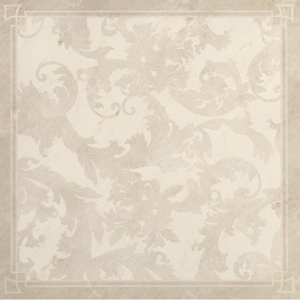 Versace ceramics 58,5×58,5 Decoro cassettone foglia bianco
