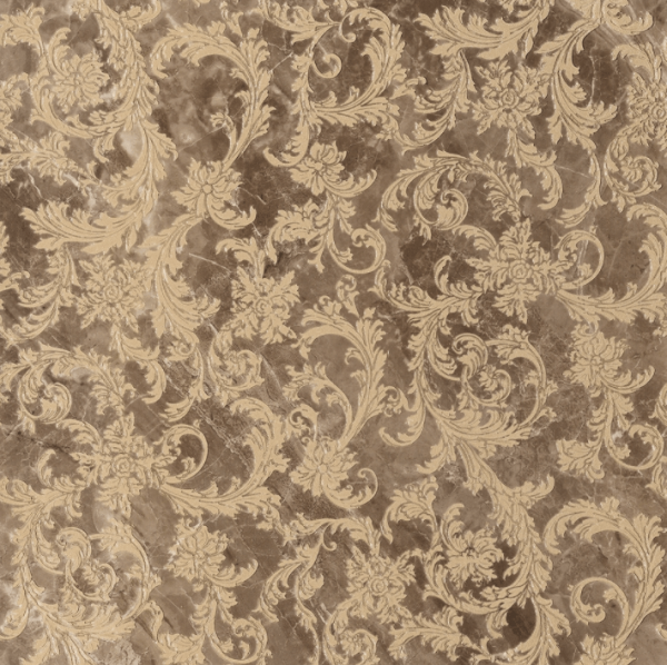 Versace ceramics 58,5×58,5 Modulo barocchino marrone