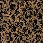 Versace ceramics 58,5×58,5 Modulo barocchino nero