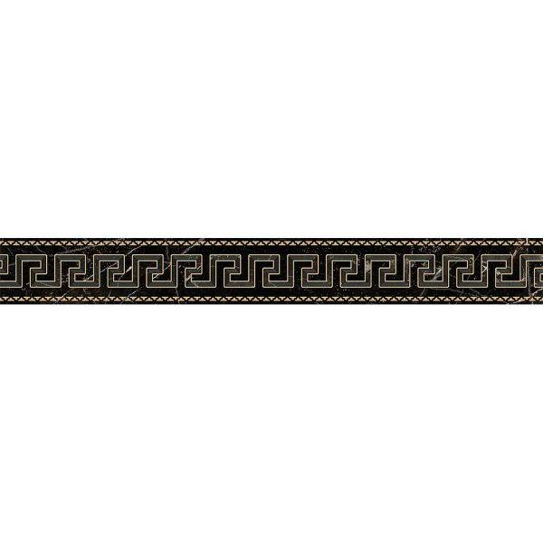Versace ceramics Emote 10×78 Fascia nero amasanta
