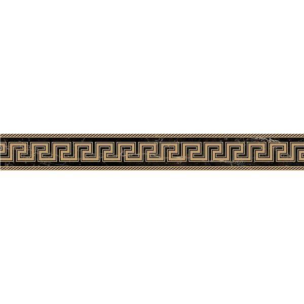 Versace ceramics Emote 10×78 Fascia sabbiata nero