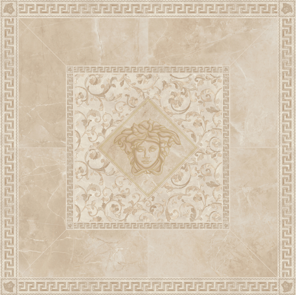 Versace ceramics Emote 156×156 Rosone crema marfil