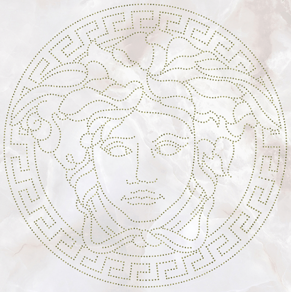 Versace ceramics Emote 39×39 Medusa glitter bianca