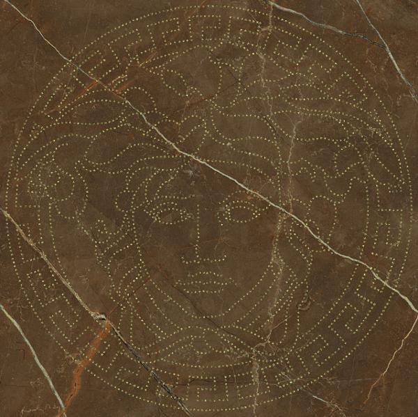 Versace ceramics Emote 39×39 Medusa glitter marrone