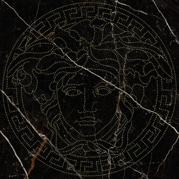 Versace ceramics Emote 39×39 Medusa glitter nera