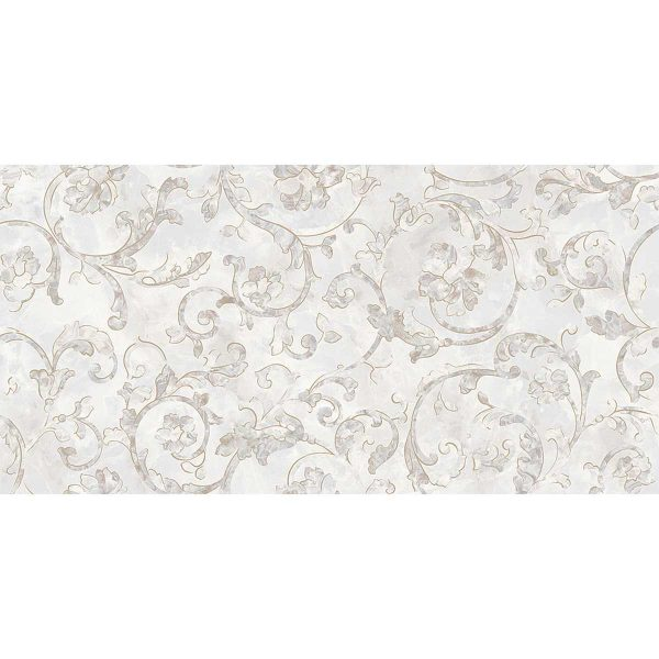 Versace ceramics Emote 39×78 Decoro floreale bianco