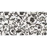 Versace ceramics Emote 39×78 Decoro floreale bianco-nero