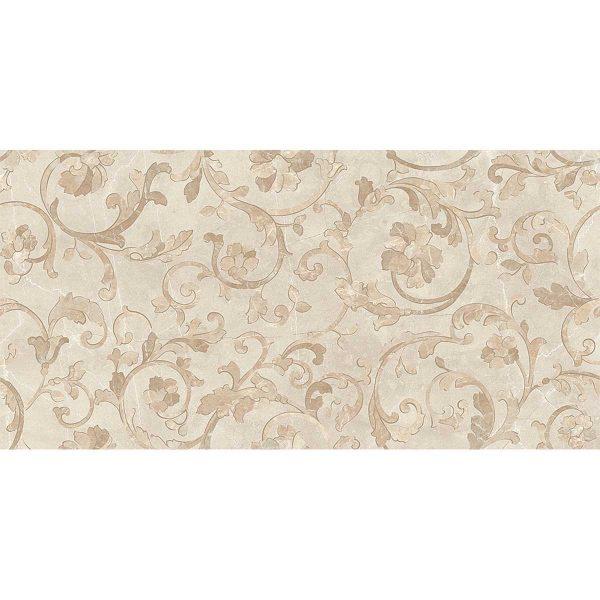 Versace ceramics Emote 39×78 Decoro floreale crema