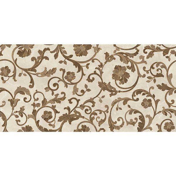 Versace ceramics Emote 39×78 Decoro floreale crema-marrone