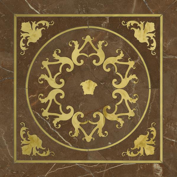 Versace ceramics Emote 78×78 Cassettone marrone