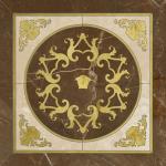 Versace ceramics Emote 78×78 Cassettone marrone-crema