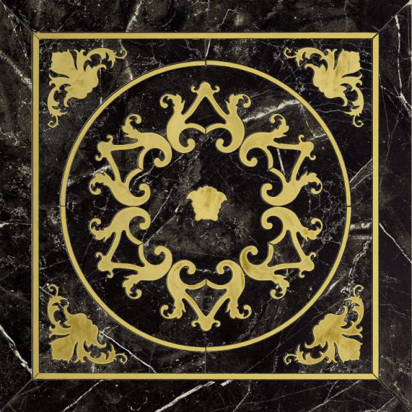 Versace ceramics Emote 78×78 Cassettone nero