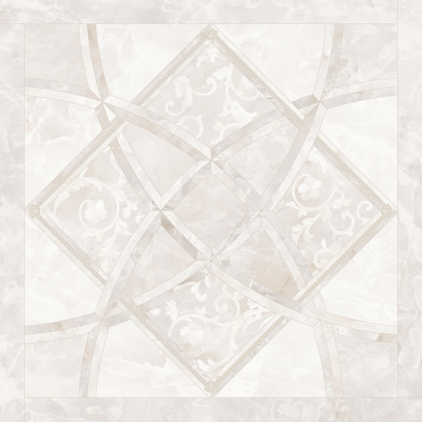 Versace ceramics Emote 78×78 Onice bianco intarsio
