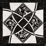 Versace ceramics Emote 78×78 Pulpis bianco-nero intarsio