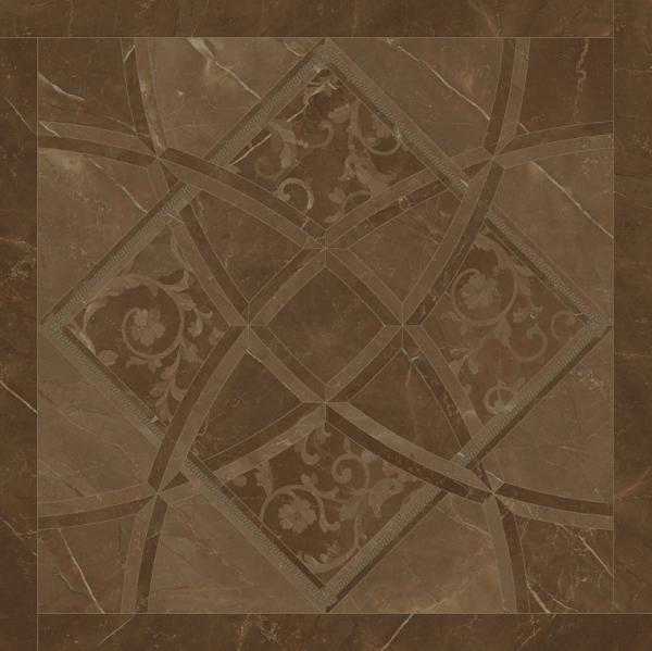 Versace ceramics Emote 78×78 Pulpis marrone intarsio