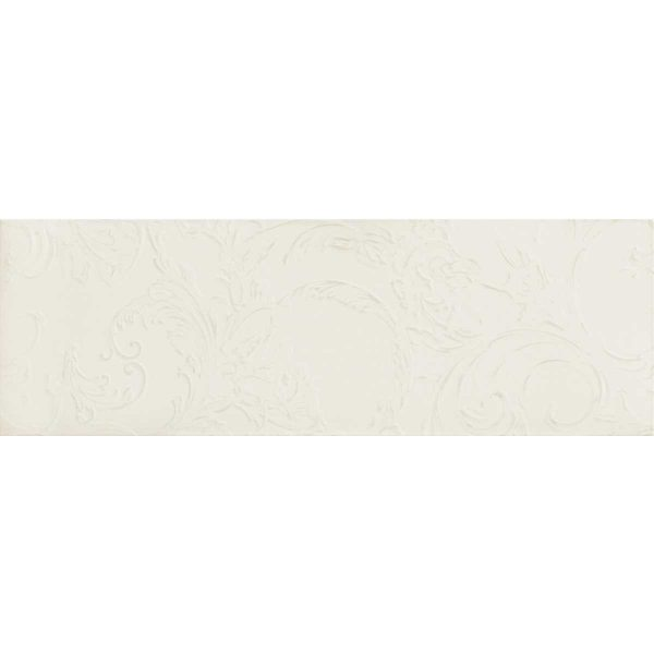 Versace ceramics Gold 25×75 rivestimento barocco bianco