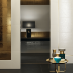 Versace ceramics Gold 25×75 rivestimento barocco bianco interno