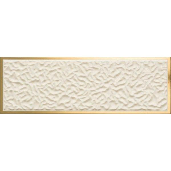 Versace ceramics Gold 25×75 rivestimento decoro acqua crema-oro