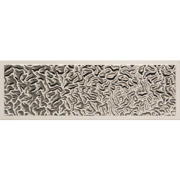 Versace ceramics Gold 25×75 rivestimento decoro acqua lingotto grigio-platino