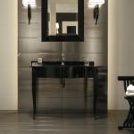 Versace ceramics Gold 25×75 rivestimento decoro riga platino interno_2